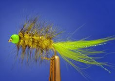 Fly Fish Food -- Fly Tying and Fly Fishing : The Lemon Lime Bugger - This could be good when the water is a little on the darkish side.