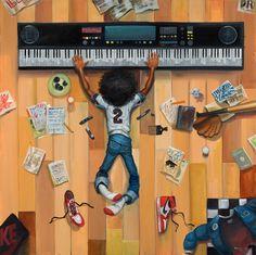 """LITTLE HIP HOP"" Frank Morrison. #musicart http://www.pinterest.com/TheHitman14/music-drawn-%2B/"