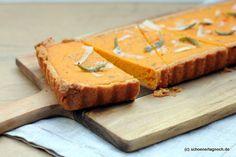 Kürbis-Quiche mit Parmesan-Mürbteigboden und Salbei
