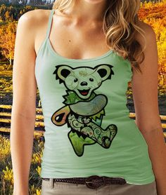 Grateful Dead Jerry Bear - Graphic Tank Tops. $12.99, via Etsy.