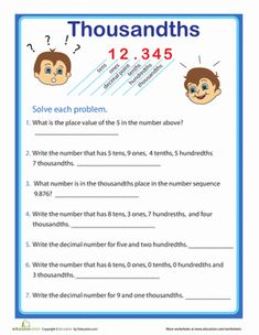 2nd grade, 3rd grade Math Worksheets: Reading bar graphs | Decimal ...