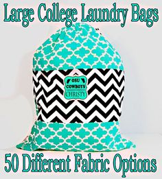 Large Monogrammed Laundry Bags College Laundry by ColorStyleDesign Branding Services, Logo Branding, Logan, Laundry Bags, 3 Logo, Watercolor Logo, Professional Logo, Up And Running, Brand Packaging