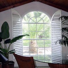 Image result for plantation shutters for arched windows