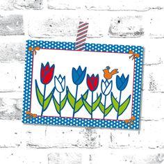 Postkaart Tulpen #Nederland #lente #tulpen #hipenstipkaarten #postcrossing #Holland