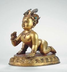 A Gilt Bronze Figure of Krishna Indian Gods, Indian Art, Hindu Art, Sacred Art, Hinduism, Buddhism, Krishna, Statues, Mythology