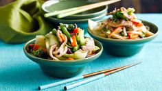 Plum pork and vegetable noodles - Better Homes and Gardens