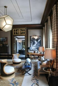 South Shore Decorating Blog- love those chairs and the accent grate above the door