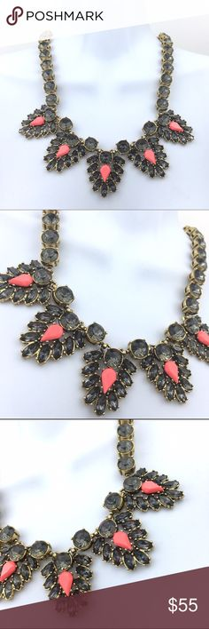 HP / J.Crew Orange Peek Statement Necklace Beautiful Rhinestones J. Crew Statement necklace with orange accepted rhinestone. Actual J. crew not factory J. Crew Jewelry Necklaces