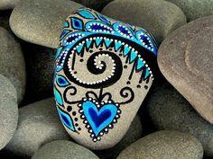 Out on a Limb / Painted Rock / Sandi Pike Foundas /Cape Cod. $39.00, via Etsy.