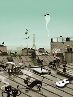 du réel à l'imaginaire - les toits de Paris