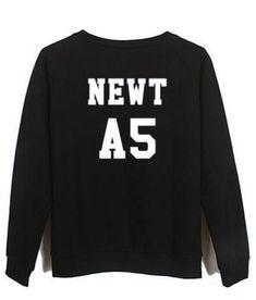 newt A5 maze runner back sweatshirt back