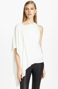 Donna Karan Collection Asymmetrical Matte Crepe Blouse available at #Nordstrom