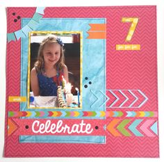 'Celebrate' layout Amanda Baldwin Design Team member Kaisercraft new 'POP' Collection - Wendy Schultz ~ Scrapbook Pages Party Gift Bags, Party Gifts, Scrapbooking Layouts, Scrapbook Pages, It's Your Birthday, Birthday Cards, Pop Stickers, Pop Collection, Clear Stamps