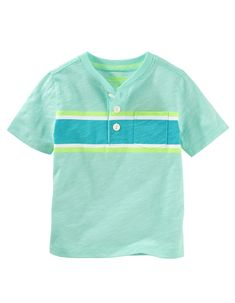 Kid Boy Engineered Stripe Pocket Henley from OshKosh B'gosh. Shop clothing & accessories from a trusted name in kids, toddlers, and baby clothes.