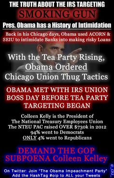 Obama met with IRS union Boss day before Tea Party Targeting Began