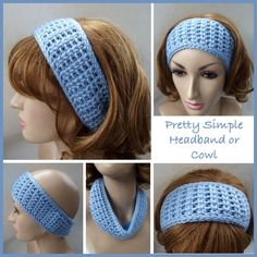Pretty Simple Headband or Cowl ~ FREE Crochet Pattern