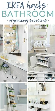 Ikea Hacks - Bathroom Organizing Solutions Organize your bathroom - without sacrificing style or your budget - with these 7 stunning Ikea bathroom organizing hacks and tips. Get inspired (and organized) with Ikea. Bathroom Organization, Ikea Hack Bathroom, Ikea Bed Slats, Green Bathroom, Ikea, Organization Hacks, Ikea Organization Hacks, Bathroom Storage Hacks, Ikea Bathroom