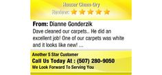 Dave cleaned our carpets.. He did an excellent job! One of our carpets was white and it...
