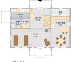 Et nytt hjem: bra planløsning Floor Plans, Floor Plan Drawing, House Floor Plans