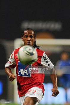 Leandro Salino of SC Braga in action during the Liga Portugal match between SC Braga and CD Nacional at the Estadio Municipal de Braga on September. Sc Braga, Ronald Mcdonald, Portugal, September, Action, Sports, Pictures, Fictional Characters, Image