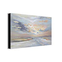 Hang festett olajfestmény Kézzel festett - Absztrakt Absztrakt Tartalmazza  belső keret   Nyújtott vászon f6e776e787