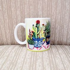 Caneca em porcelana imagem Xícaras com plantas
