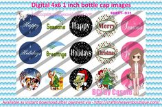 1' Bottle caps (4x6) 3 part ornaments D31 Christmas  3 Part BottleCap Ornaments Image #3partOrnaments  #bottlecap #BCI #shrinkydinkimages #bowcenters #hairbows #bowmaking #ironon #printables #printyourself #digitaltransfer #doityourself #transfer #ribbongraphics #ribbon #shirtprint #tshirt #digitalart #diy #digital #graphicdesign please purchase via link  http://craftinheavenboutique.com/index.php?main_page=index&cPath=323_533_42_114