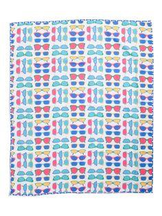 Indoor Outdoor Summer Glasses Picnic Blanket