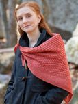 Free knitting pattern!  The Woodland Shawlette, by Phydeaux Designs, via Classic Elite Yarns.  Click through the photo for the page to the pattern link.  :)
