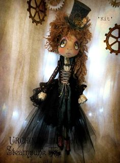 Urchin art doll Steampunk 'Kit' by Vicki @ Lilliput Loft
