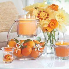 DIY-orange-et-bougie-printemps-table-pièce maîtresse