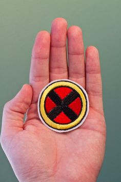 X-men Badge - Iron-on Embroidered Comic Book Patch. $5.00, via Etsy.