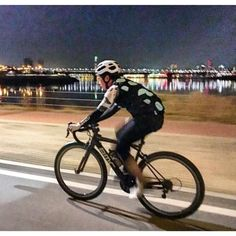 Bright light city ... here is @yang_in_cheol spinning thru Seoul City pic by @chung.ray #jaggadcycling #teamjaggad by jaggadcycling