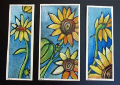 that artist woman: Chalk Pastel Sunflowers - using glue relief on black paper Work into Georgia O'Keeffe unit