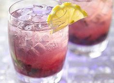 This refreshing hard lemonade combines blueberries with gin and the flavors of mint and lemon. 1 cocktail
