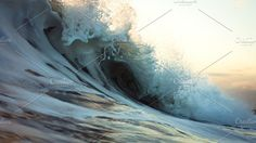 This capture of the wave is stunning. To be able to freeze motion like that and display the full detail still is amazing! ocean wave by EVA #ad https://creativemarket.com/