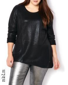 mblm Asymmetric Coated Sweater