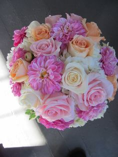 Our beautiful bridal bouquet we created. Stunning for a spring wedding. Appleblossom-flowers.com
