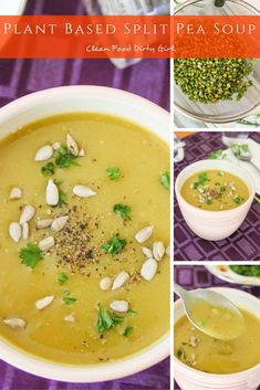 Plant Based Split Pea Soup (Instant Pot and Stove Top)