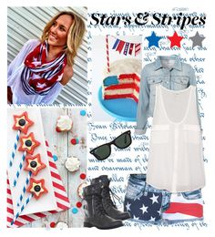 """""""Happy 4th of July!!!"""" by lip-gloss-lover ❤ liked on Polyvore featuring ELSE, Joie and Ray-Ban"""