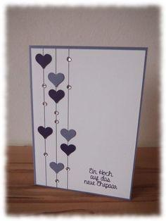 Result For Wedding Congratulations Card Fun ideas for congratulations Wedding Cards Handmade, Handmade Birthday Cards, Greeting Cards Handmade, Handmade Engagement Cards, Simple Handmade Cards, Tarjetas Diy, Wedding Congratulations Card, Wedding Anniversary Cards, Card Wedding