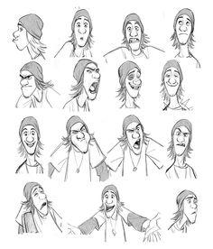 Expressões e poses do personagem Fred, de Big Hero Character Design Cartoon, Character Sketches, Character Design Animation, Character Design References, Character Drawing, Character Design Inspiration, Female Drawing, Disney Expressions, Drawing Expressions