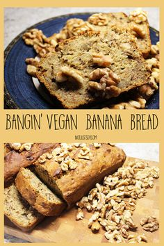 Bangin' Vegan Banana Bread - Not Just Soy My Favorite Food, Favorite Recipes, Vegan Banana Bread, My Recipes, Vegan Vegetarian, Baking Soda, Snacks, Healthy, Breakfast
