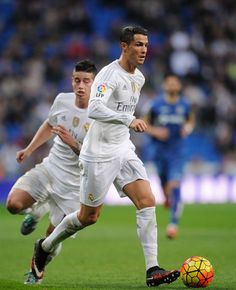 Cristiano Ronaldo of Real Madrid in action during the La Liga match between Real Madrid CF and Getafe CF at Estadio Santiago Bernabeu on December Real Madrid Pictures, Ronaldo Real Madrid, Cristiano Ronaldo, Soccer, Action, Running, Sports, December, The League