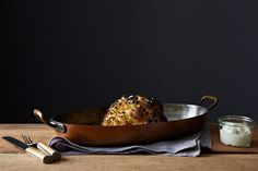 Alon Shaya's Whole Roasted Cauliflower and Whipped Goat Cheese on Food52: http://food52.com/recipes/24387-alon-shaya-s-whole-roasted-cauliflower-and-whipped-goat-cheese #Food52