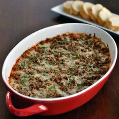 Serve this meatball sub dip as one of your Super Bowl appetizers! All the flavor of a meatball sub in an easy dip. This recipe will be a game day favorite.