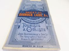 Bartholomew Survey Map Dornoch Lairc Map of Scotland Antique Tourists & Cyclists #JohnBartholomewSon