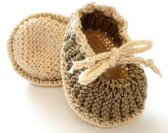 Knitting pattern pdf file  Baby Booties with Pom Pom Cotton