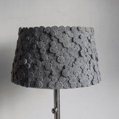 felt LampshadeGray lamp textile lamp Handmade by SEMELART on Etsy