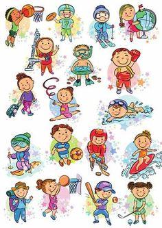 Клипарт детский Спорт  Путешествия